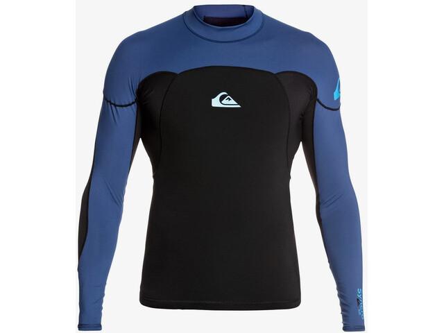 Quiksilver 1.0 Syncro T-shirt Manches longues Néoprène B-Lock Homme, black black/iodine blue iodine